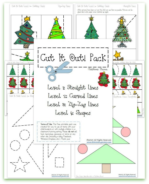 Christmas Cutting Practice Pack