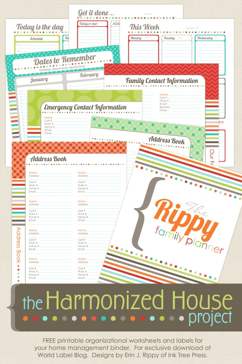 graphic regarding Free Printable Home Organizer Notebook named 15 Absolutely free Products in the direction of Support By yourself Acquire Ready inside 2014 Economic