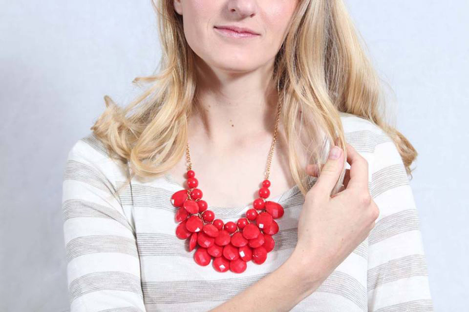 Holiday Red Necklace