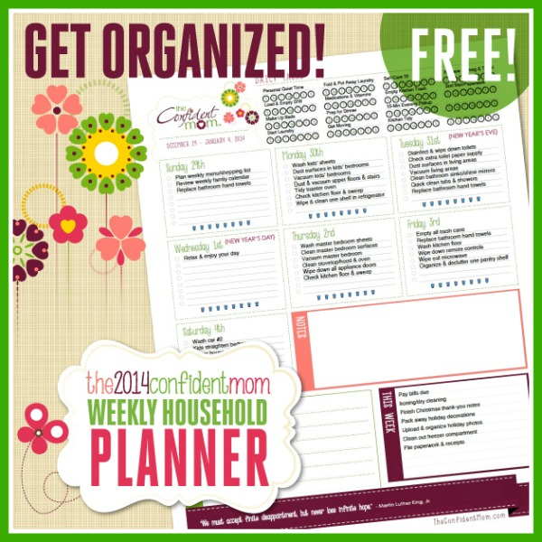 Week in Review: Free 2014 Confident Mom Planner, Shutterfly Calendar ...