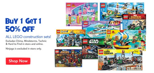 """Toys """"R"""" Us: LEGO Sets - Buy One, Get One 50% Off (in-store & online ..."""