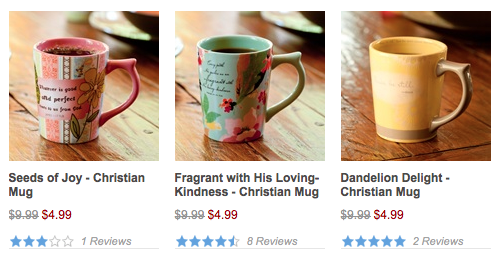 Decorative Mugs for $4.99 shipped