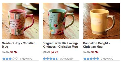 Decorative Mugs for $4.99 shipped