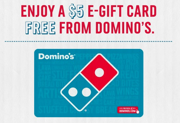 Domino's Pizza: Free $5 E-Gift Card - Money Saving Mom®