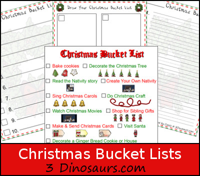 Christmas Bucket Lists