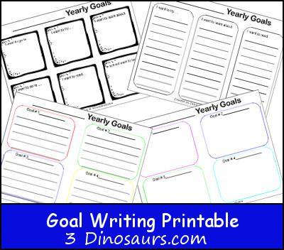 Goal Writing Printable