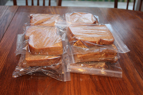 Peanut Butter & Jelly Sandwiches for the Freezer