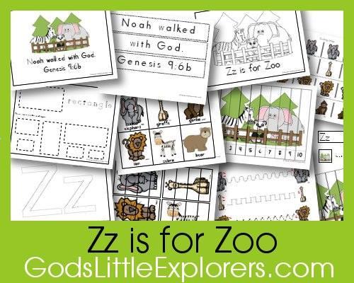 Z-is-for-Zoo-printable-pack-Gods-Little-Explorers-preschool