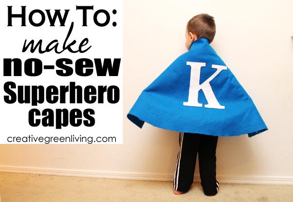 how to make no sew superhero capes for kids