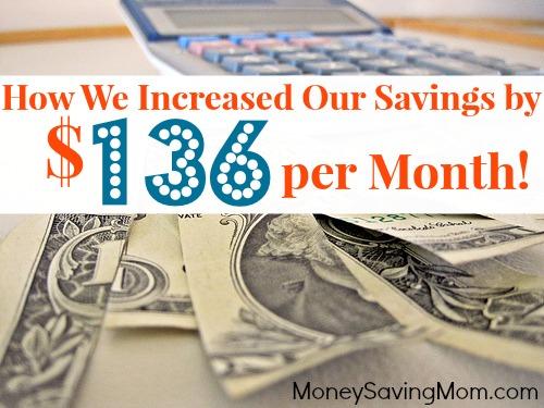 increased our savings