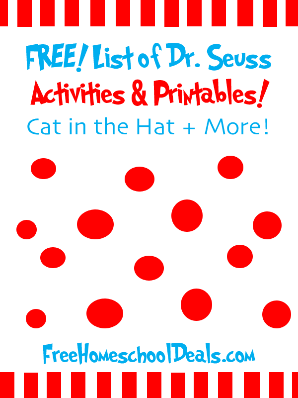 Huge List of Free Dr Seuss Activities and Printables Money – Dr Seuss Worksheets