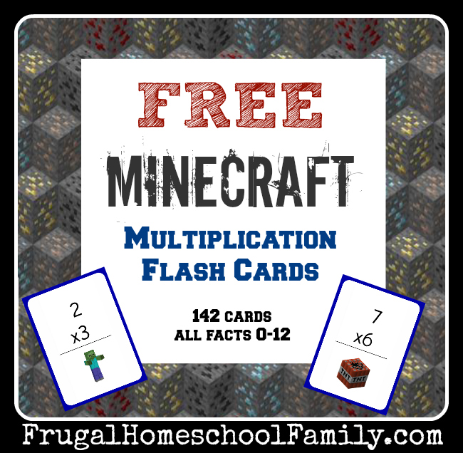 free minecraft multiplication flash cards money saving mom. Black Bedroom Furniture Sets. Home Design Ideas