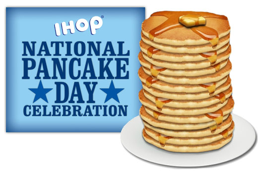 iHop's special offering free pancakes