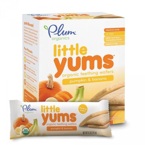 Plum Organics Little Yums Teething Wafers, Pumpkin Banana, 3 Ounce Deal