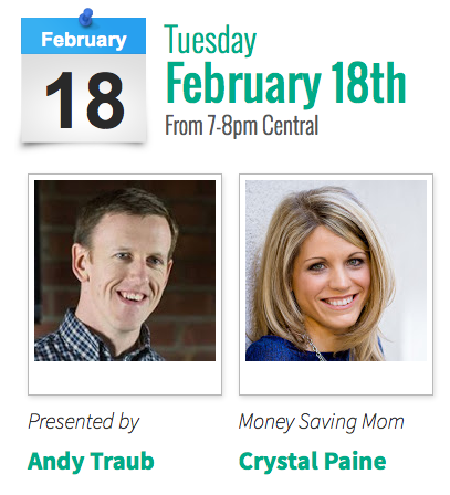 Free live webinar with Andy Traub