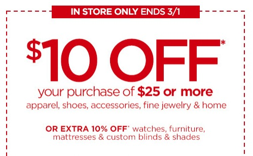 3389b40a6f49 JCPenney   10 Off  25 Printable Coupon - Money Saving Mom®   Money ...