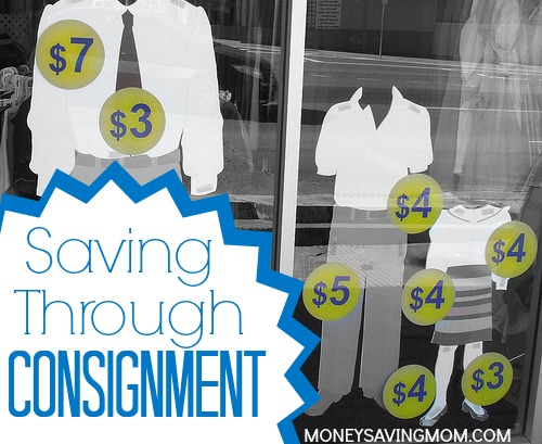 saving through consignment