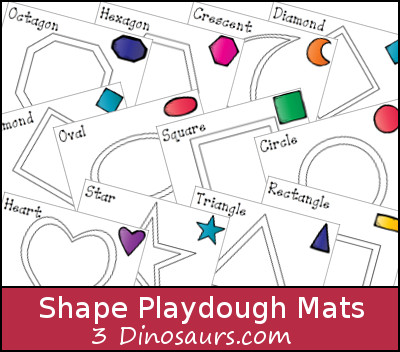 Free Shape Playdough Mats Money Saving Mom 174