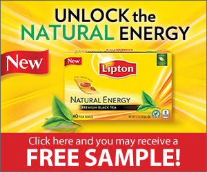 Free Lipton Natural Energy Tea