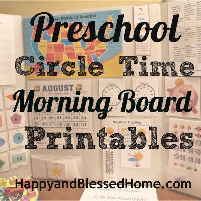 Free Preschool Morning Circle Time Printables Money
