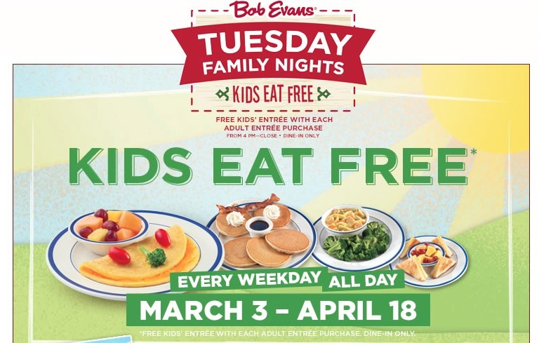 Your kids can eat free every day of the week with this massive list of restaurants where kids eat free!