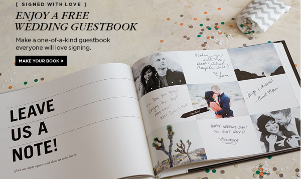 Wedding Guest Book Cover Design : Free shutterfly wedding guest book facebook offer