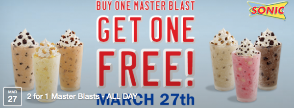 Buy One, Get One Free Sonic Blasts