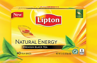 Free sample of Lipton Natural Energy Black Tea