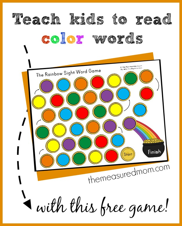 book printable Game word Teach   to Mom® Words Free Kids went Color Read  Money sight Saving