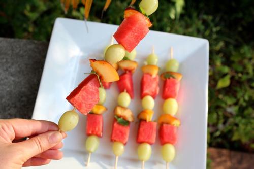 Fruity summer skewers