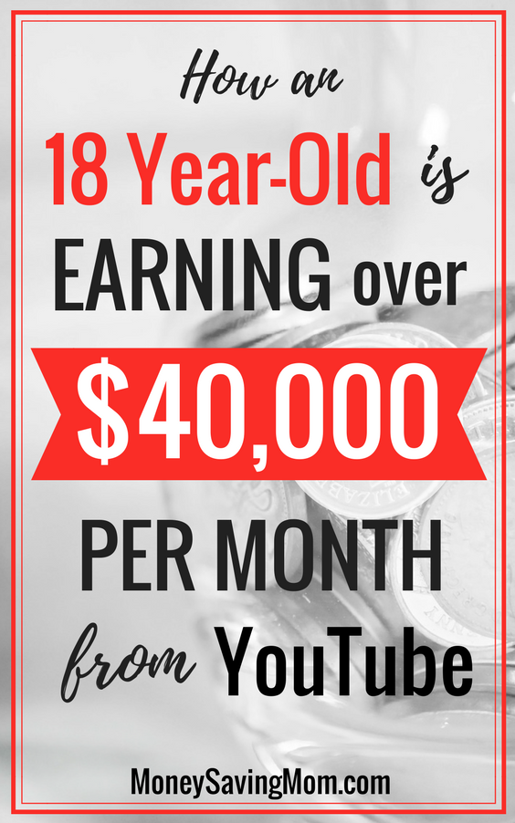 How an 18 Year-Old is Earning over $40,000 from YouTube Each Month! This story is SO inspiring!