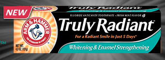 Truly Radiant Toothpaste sample