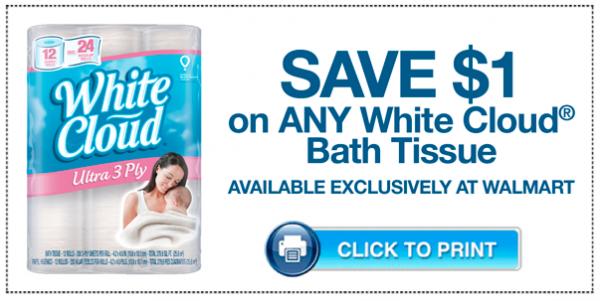 White Cloud Bath Tissue coupon