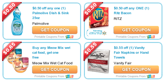 photo regarding Vanity Fair Coupons Printable called Contemporary printable discount codes: Palmolive Dish cleaning soap, Ritz crackers