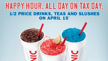 Sonic Half Priced Drinks and Slushes