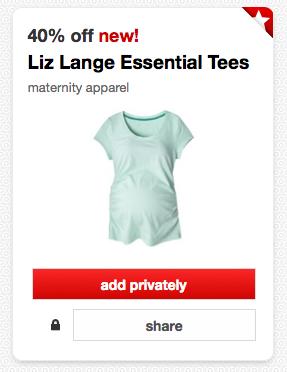 Target Liz Lange coupon