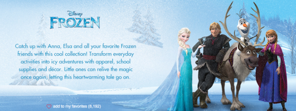 Disney's Frozen Sale