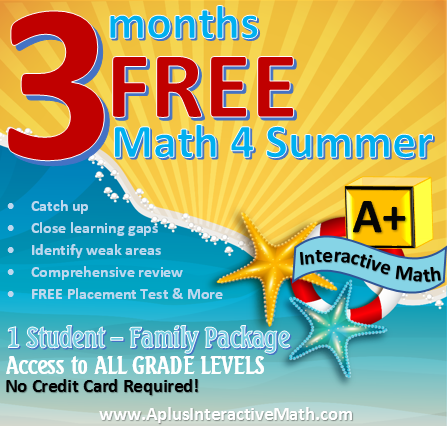 3 months of FREE Math for Summer