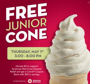 Free Junior Cone at Carvel