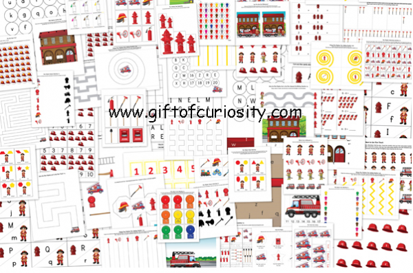 Free Fire Fighter's Printable Pack