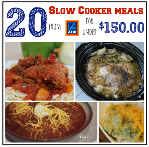 20 Slow Cooker Meals from ALDI for $150