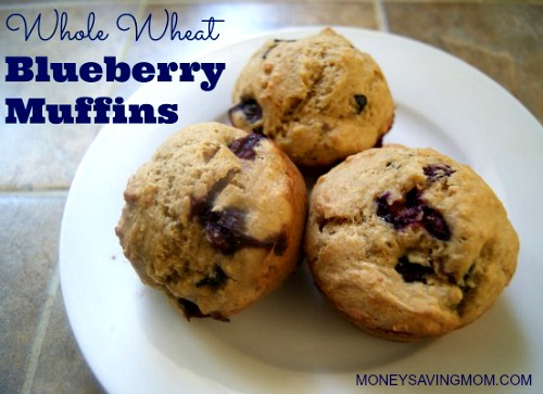 Whole Wheat Blueberry Muffins - Money Saving Mom®
