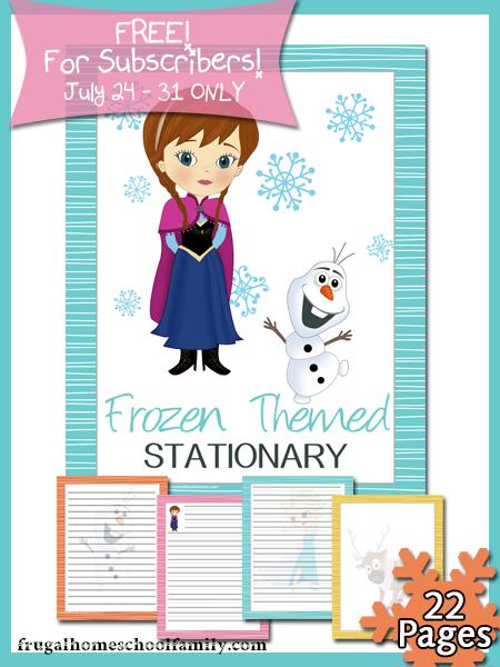 free printable frozen