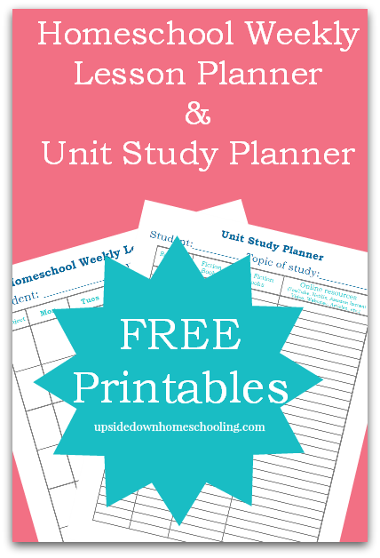 Free Homeschool Planners and Charts | Free Homeschool Deals