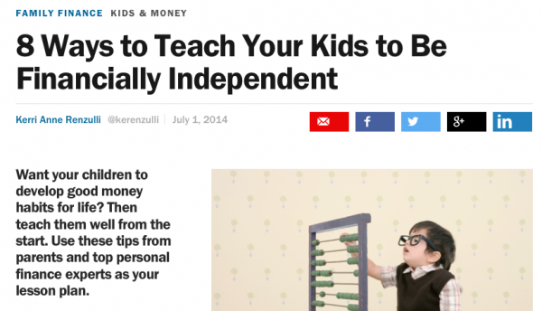 8 Ways to Teach Your Kids to Be Financially Independent