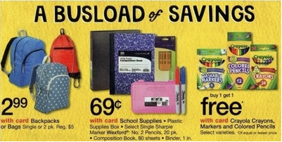 Walgreens Backpacks for $2.99