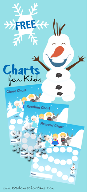 Free Frozen Themed Rewards Charts
