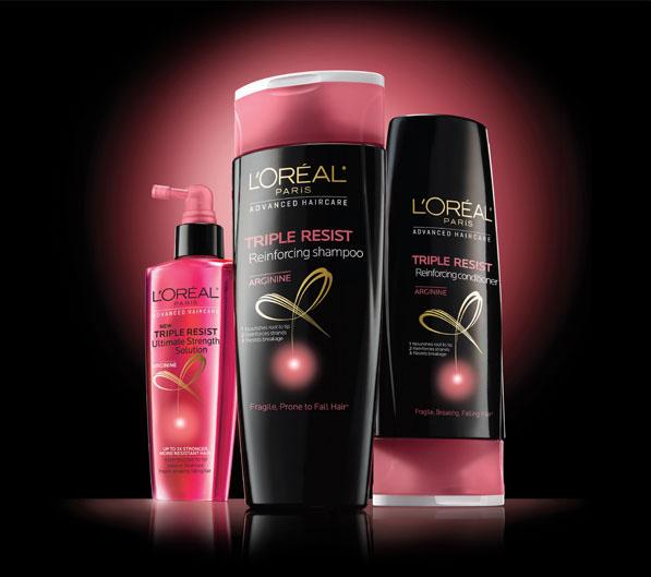 Amostras L'oreal - Shampoo Triple Resist - Triple-resist-