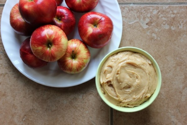 Peanut Butter Cream Cheese Apple Dip