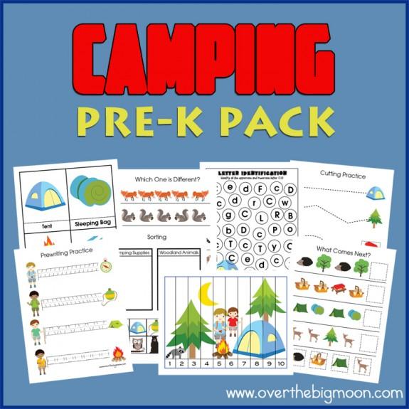 Camping Pre-K Printable Pack